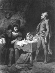 Faust e Mefistofele nell'incisione di Tony Johannot